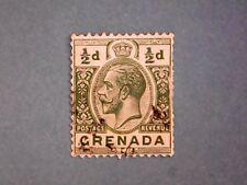 Grenada. KGV 1921 ½d Green. SG112. Wmk Mult Script CA. P14. Used.