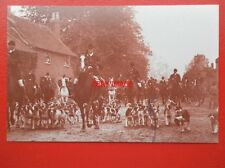 POSTCARD LEICESTERSHIRE HUNT MEET 1908