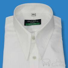 Spearpoint collar shirt White stripes 1930s Vintage Classic WWII 100% Cotton Men