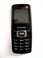 Samsung SGH B130-Negro (naranja) teléfono móvil.