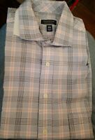 Club Room Mens Dress Shirt Regular Blue/Pink Size 16 1/2 34-35 Button Down $55