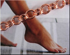 Solid Copper Anklet CA104G -1/4 of an inch wide - 8 to 11 inch lengths