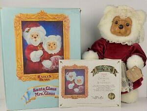 1988 Raikes Original Bears Mrs. Claus 21391 LE 1757/7500 With COA Applause