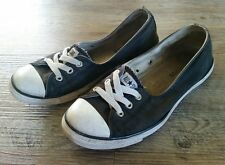Converse All Star Women Size 7.5 Black Slip On Ballet Flats Shoes Sneakers