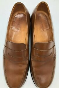 J.M. Weston Men Brown Leather Loafers Size 10 D