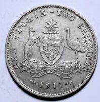 1911 Australia One 1 Florin - George V - Lot 359