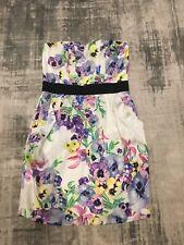 H&M floral Bandeau Strapless Summer Dress. Size EU38