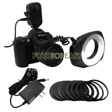 Macro O Ring LED Light & Ring for Canon Nikon Pentax Sigma Lens DSLR SLR Camera
