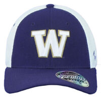 NCAA Zephyr Washington Huskies Youth Kids Jersey Mesh Stretch Two Tone Hat Cap