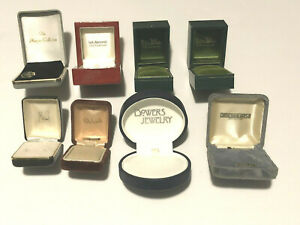 Lot Collection Of 8 Vintage  Jewelry Ring And Earring Display Presentation Boxes