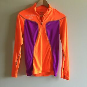 Asics ing new york city marathon shirt top Womens Size S thumbhole Pockets