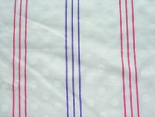 New Purple Pink Stripe Fabric Polyester Rayon White Dots Sewing Material Per Yd