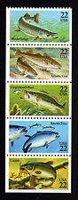 2205-2209 Pane of 5 22¢ Fish Stamps Mint Never Hinged