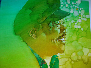 ORIGINAL ILLUSTRATION ART FROM RECORD LP - SIGNED BY ARTIST COUNT BASIE HANDY ?