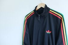 Adidas Originals tracksuit jacket black Rasta stripes XL Red Green Yellow
