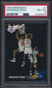 1992 Upper Deck #1 Shaquille O'Neal RC HOF PSA 8 NM-MT Lakers New Slab