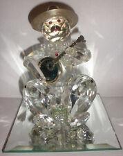 Vintage crystal banjo player clown figure 800 silver Swarovski ?