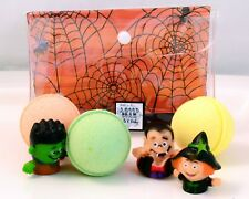 NEW Kids Trio Bath Bombs with Cute HALLOWEEN Puppet Toys - Citrusy Fresh Scents