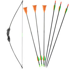 "45"" Archery Takedown Youth Bow and Arrows Set for Kids Children Outdoor Toy 15lb"