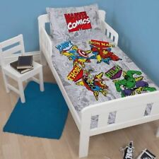 Marvel Junior Retro Comic Design Duvet Cover Set, Polyester-Cotton