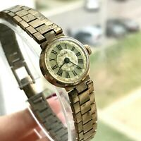 Vintage Small Women Gold Plated CHAIKA Luxury Russian Dress SERVICED Watch USSR