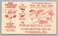 """Cook's New EZ Tool"" Vintage Kitchen Equipment Advertising—Washingtonville Ohio"