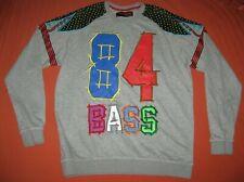 Bass By Ron Bass 84 Vintage Men's Gray Multi Color Long Sleeve Shirt XXXL 3XL