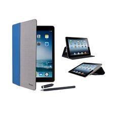 Targus iPad Air Case Vustyle Faux Leather/Twill w/Stylus & Card Slots (Blue/Tan)