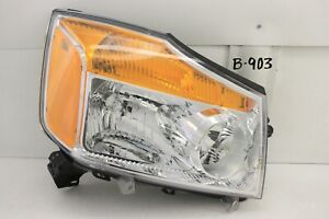 OEM HEADLIGHT HEAD LIGHT LAMP HEADLAMP NISSAN TITAN 08-15 RH crack housing minor