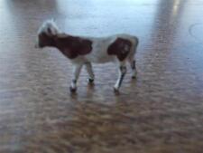 Vtg RARE BRITAINS johillco crescent lead Brown & White CALF COW Farm Animal 4cms