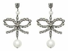 ERDEM x H&M Clip On Crystal Pearl Earring Sliver Original Box Sold Out