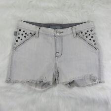 Rock & Republic Light Grey Denim Studded Shorts - Women's 6