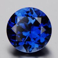 Blue Zircon 10mm 3.56Ct Round Cut AAAAA VVS Loose Gemstone