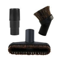 Black Round 32mm Dusting Brush + Adapter Replaces Set Vacuum Cleaner Attachment