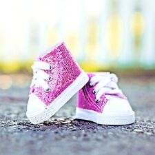 Pink Sneakers & Shoe Box Fits 18 Inch American Girl Doll Clothes & Accessories