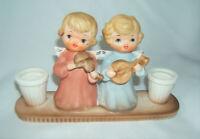 Vintage HOLT HOWARD 1963 Christmas Anytime Angel Candle Holder Ceramic Cuteness