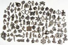100 Breloques _ LOT MIX DIVERS arg de 11 à 29 mm _ Perles charms création bijoux