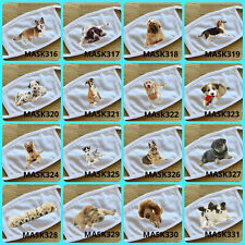 DOG BREEDS reusable washable face masks , face cover, high quality printing