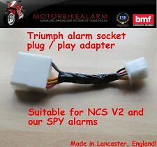 TRIUMPH PLUG & PLAY ADAPTER FOR NCS V2 AND SPY MOTORBIKE MOTORCYCLE ALARM ALARMS