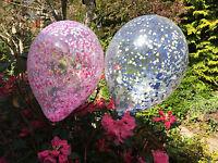 Confeti GLOBOS Azul Marino Rosa Corazones 30.5cm To 3 Pies Decoración Fiesta