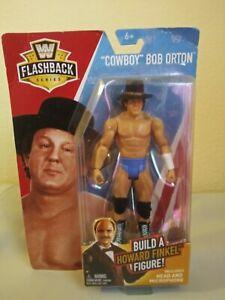 COWBOY BOB ORTON WWE FLASHBACK SERIES FIGURE WWF BUILD HOWARD FINKEL *DMG BOX*