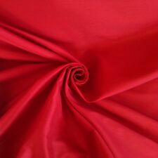 8 Metres Faux Silk Slub Weave Quality Curtain  Fabric In Cranberry