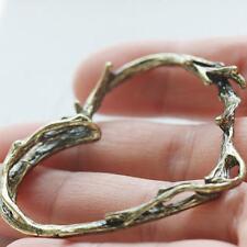 2 Pieces Antique Brass Tone Base Metal Pendant - Heart 58x52mm (1582C-S-289)