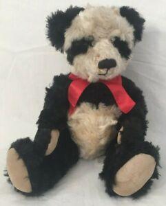 Panda Mei Ying Plush Bombay by Russ Stuffed Animal Faux Mohair Black White 10in