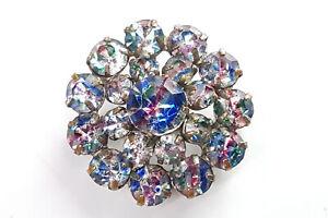 Vintage Rainbow glass brooch/pendant.