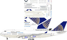United Farewell Friend Ship Boeing 747-400 decals for Revell 1/144 kit