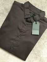 "ALL SAINTS MEN'S KHAKI BROWN ""COURTLAND"" L/S SHIRT TOP - SMALL - NEW & TAGS"