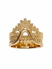 Banana Republic Gold Lace Stacked Ring Sz 6 NWT $49.99
