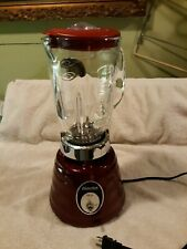 Vintage Osterizer Oster Classic Blender 564A RED beehive EXC!