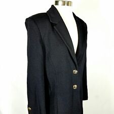 ST JOHN Basics Jacket Santana Knit 2 button Blazer Long Sweater Cardigan